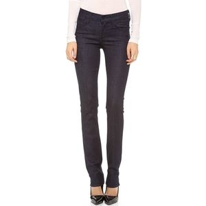Agolde Elodie Straight Leg Stretch Jeans Black